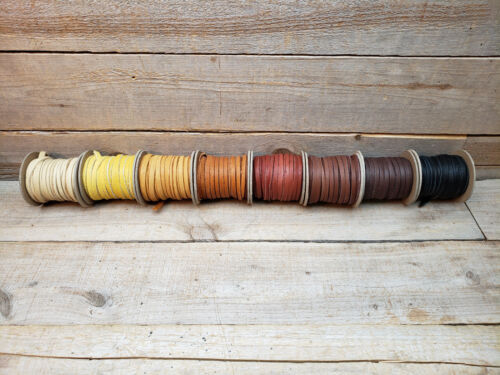 "Elk Leather Lace Spool Roll  1/4"" x 25 FT Lacing Cord String Craft F9"
