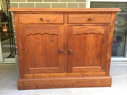 Solid teak wood cabinet / buffet with ample storage space