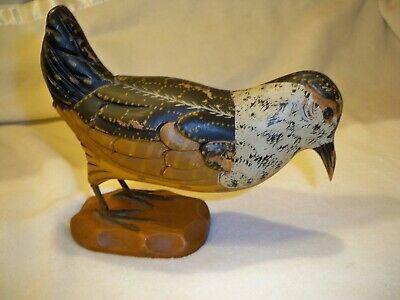 Vintage Carl Forslund Hand Carved, Hand Painted Wooden-Woodcock Bird Folk Art