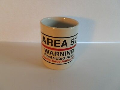 Collectible (198X) Mug: Area 51 Warning Restricted Area""