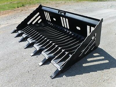 Bobcat Skid Steer Attachment - 72 Rock Skeleton Bucket With Teeth - Ship 179