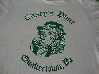 Vintage Casey's Place Quakertown Pa St. Patrick's Day scary Leprechaun T shirt M](Scary Leprechaun)