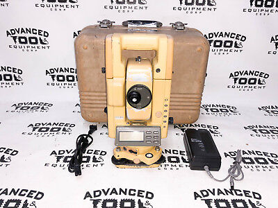 Topcon Gts-304 Total Station Transit W Case New Charger Battery