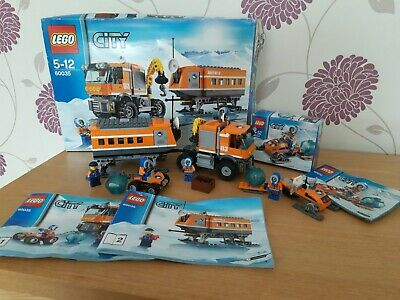 Lego 60032 & 60035 City Arctic Outpost + Snowmobile - complete