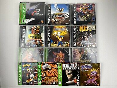 Playstation 1 Game Case & Manual Lot Crash Bandicoot, Spyro, Tony Hawk, Tekken +