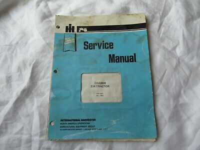 1982 International Harvester 234 Tractor Chassis Service Manual