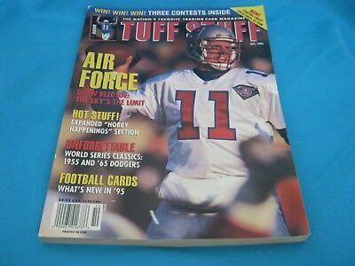 TUFF STUFF TRADING CARD MAGAZINE MONTHLY OCTOBER 1995 DREW BLEDSOE - PATRIOTS - Patriotic Stuff