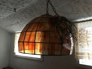 HandMade Stained Glass hanging Lamp.