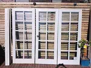 Vintage French external doors with frame Erina Gosford Area Preview