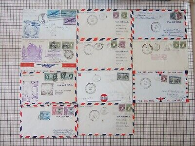 Collection of 11 first flight covers for FAM 22 USA-Nigeria in 1941