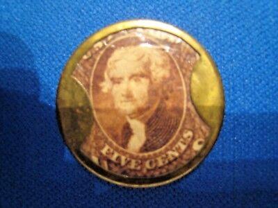 1862 ENCASED POSTAGE STAMP - SCOTT #EP54 - BURNETT'S COOKING - XF FULL MICA (gg)