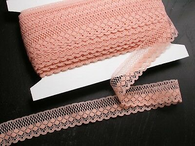 """Closeout Bolt Lace 1 1/4""""  (31.75mm) Peach Medium 35 yards for sale  Shipping to India"""