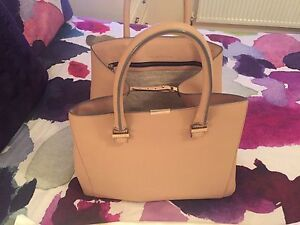 Victoria Beckham Liberty Tote Bag - Nude with receipt