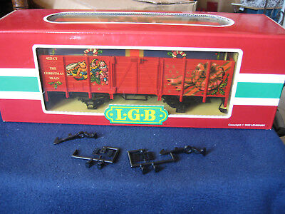 LGB 4021CT ~ Christmas Gondola with Gift Box Load ~ GIFT TRAIN G SCALE MINT BOX for sale  Escondido