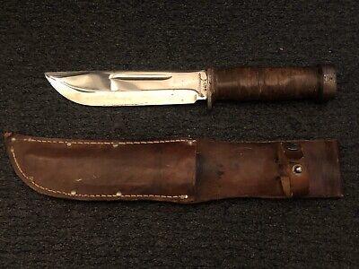 Vintage WWII Cattaraugus Knife 225Q Fighting Fixed Knife WW2 U.S. LOOK! + Sheath