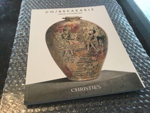 CHRISTIE'S  Auction Catalog UN/BREAKABLE London October 2, 2018, Fontana,Picasso