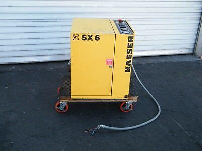 Kaeser SX6 5 hp rotary screw air compressor atlas copco ingersoll rand quincy