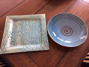 Decorative plate and bowl