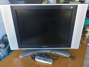 Sharp 20 inch LCD TV with wall mount.