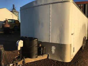 20' Heated Enclosed Trailer