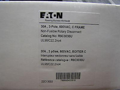 Eaton Cutler Hammer R9c3030u 30 Amp 3 Pole 600vac C Frame Non Fusible Rotary Dis