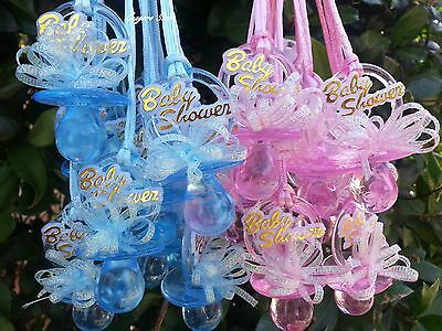 Girl Baby Games (Pacifier Necklaces Baby Shower Games Favors Prizes Pink, Blue, Boy's,)