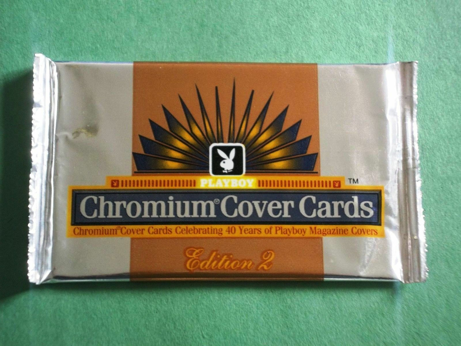 🔥 1995 Playboy Chromium Cover Edition 2 Card Pack - Hugh Hefner Signed? Auto?