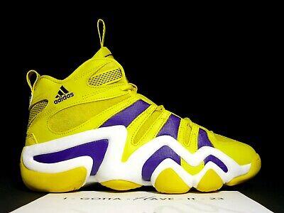 Adidas Crazy 8 Eight Lakers Sun Yellow Purple White Size 9 G24829 Kobe Bryant