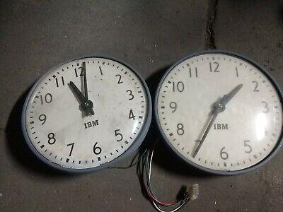 "Lot of 2 Reclaimed Vintage IBM Clocks - 13"" - Parts"