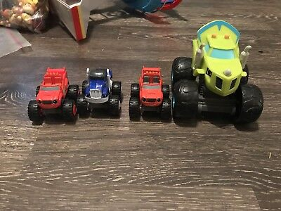 Nickelodeon Blaze And The Monster Machines Diecast Truck Talking Zedge Lot