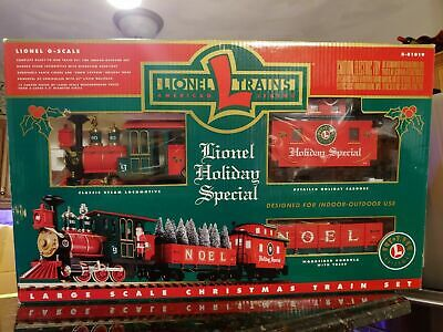 G Scale Lionel Holiday Special Christmas Train Set Electric Locomotive COMPLETE!