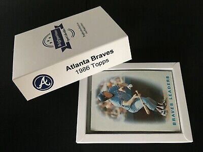 Baseball Team Set: 1986 Atlanta Braves (38 w/ traded) - NM/MT - Box - Gift (Card Box Ideas)