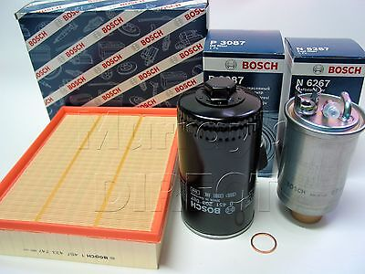 OEM BOSCH Service Kit Oil Air Fuel Filter & Sump Washer VW T4 Camper 2.4 2.5 TDI