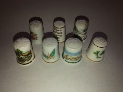 S10 Lot of Vintage Thimbles very nice condition Lot #1