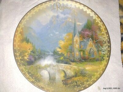 Collectors Plate ^The Mountain Chapel Plate ^ #319 A By Thomas Kinkade.