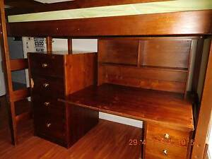 Bunk Bed - Bunkers Loft Bed and Desk  - King Single Bed Woodcroft Morphett Vale Area Preview