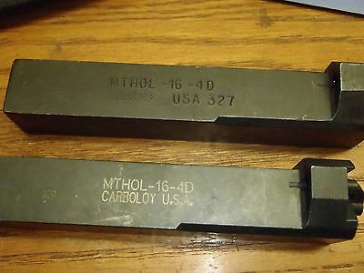 Carboloy Mthol-16-4 End Mount Threadinggrooving Tool Holder