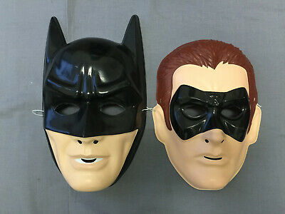 BATMAN & ROBIN SET PVC SUPERHERO HALLOWEEN MASKS ()