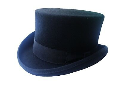 Wedding High Top Hat/ Wool Felt Cylinder Hat/Stove pipe Hat /Topper 41/2
