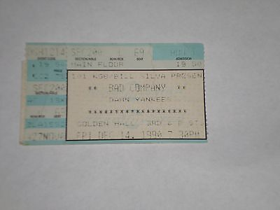 Bad Company & Damn Yankees Concert Ticket Stub-Holy Water Tour-1990-Golden Hall