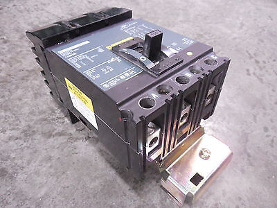 USED Square D FA36100 I-Line Circuit Breaker 100 Amps 600VAC Green Face