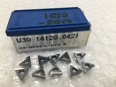10 Komet Carbide Inserts W30 14120.0421 U4-8804-l-k10