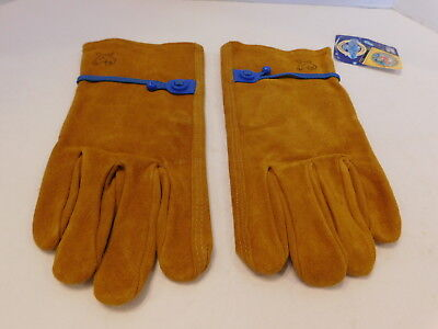 New Wells Lamont Washables Cowhide Leather Work Gloves Size Medium