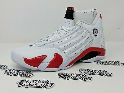 8c90d65d0ec1 Nike Air Jordan Retro XIV 14 Rip Hamilton Candy Cane White Red Black  487471-100
