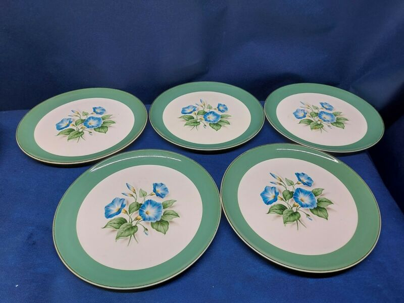 Vintage Taylor Smith & Taylor Versatile Set/5 Dinner Plates Beautiful!