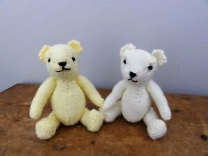 Hand Knitted - New- Teddy Pals  (set of 2) - Soft Toy