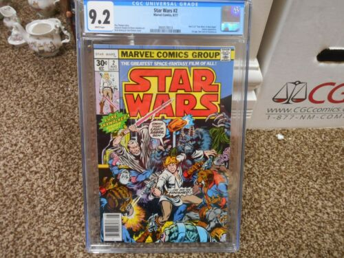 Star Wars 2 cgc 9.2 Marvel 1977 1st appearance of Han Solo Chewbacca WHITE pgs