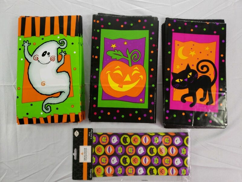 Lot Of 74 Halloween Paper Treat Bags Jeanmarie Creations/Holiday Inspirations