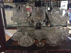 Assortment of Genuine 1920s Hand Cut Glass