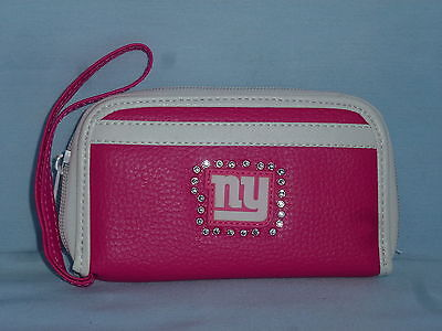 Pink Ny Giants (New York NY GIANTS   Womens/Girls  PINK FASHION WALLET with Rhinestones )
